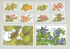 Dominica #1101-1110 Flowers, Trees, Food, Fruit 8v & 2v S/S Imperf Proofs