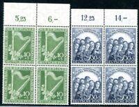 BERLIN 1950 72-73 ** POSTFRISCH VIERERBLOCKS PHILHARMONIE (S1858