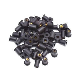 M5 5mm Rubber Well Nut Windscreen & Fairing 10mm 3/8 Wellnuts - 10 pcs