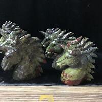 "4 "" Natural Dragon Blood Stone Jasper Crystal sculpture unicorns 1pcs"