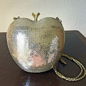 EXPRESSIONS NYC Gold Apple CLUTCH / HANDBAG New SHIP FREE Housewife of NYC, Eve