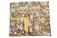 Indian Cotton Kantha Quilt Vintage Handmade Boho Blanket Bedspread Gudari Throw