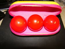 NEW Set of 3 Small Red Pool Balls Billiards 2 Inch in a case Juggling Balls?