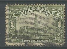 CANADA 1928 $1 OLIVE-GREEN SG285 GOOD USED