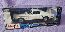 1968 White Ford Mustang GT Cobra Jet 1/18 Diecast Model Collectable Car Maisto