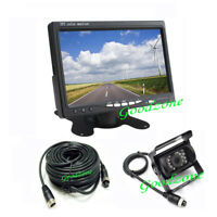 """7"""" LCD Monitor Car Rear View Kit + 4Pin 18 IR LED CCD Backup Reversing Camera"""