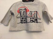 Boys Age 3-6 Months Baby Grey Long Sleeve Cotton Top Jumper From Gap