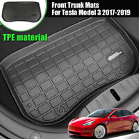 For Tesla Model 3 2017-19 TPE Front Cargo Tray Trunk Rubber Floor Mat