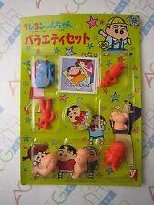 Anime Crayon Shin Chan Gashapon Vintage Mengo Card With Clear Figure Set Yutaka