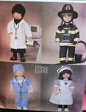 "Linda Carr Vogue doll clothes pattern fire fighter doctor nurse 18"" V7678"