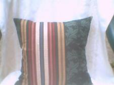 Pillow COVER Leaves column and stripes blue red tan