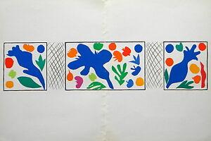 "Henri Matisse ""Coquelicots"" lithograph"
