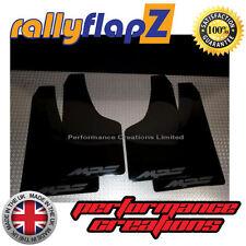 Rally Mudflaps MAZDA 3 MPS 07-09 Mk1 Mud Flaps Black Logo Matt Black - Kaylan PU