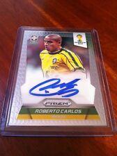 Panini Prizm 2014 World Cup Roberto Carlos Brazil signature auto S-RC