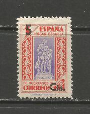 Spain Orphaned Children of Postal Workers School 1pta + 5c OVPT charity stamp