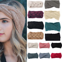 Women Winter Cotton Headband Twist Hairband Bow Knot Cross Tie Hair Band Hoop