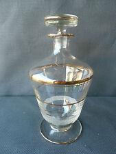 antik Karaffe aus Glas golden antik Flakon sehr guter Zustand old French Glas