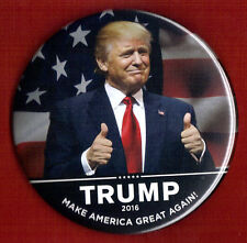 "2016 Donald Trump 3"" / ""Make America Great Again"" Campaign Button(Pin 19L)"