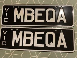 Vic Licence Plate - Mercedes Benz EQA