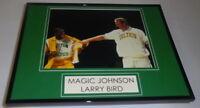 Magic Johnson & Larry Bird Framed 11x14 Photo Display Celtics Lakers