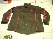 BSX Welders Black with Red Flames on sleeves Jacket Size Medium