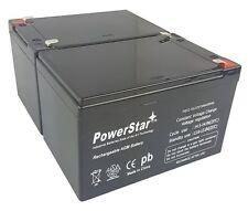 12V 15AH Sealed Lead Acid (SLA) Battery - T2 Terminals - for ZB-12-15 - 2PK