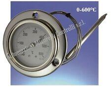 Termometro per forno, forno a legna, barbecue, BBQ, pirometro 0-600°C capillare