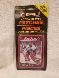 VINTAGE&RARE 1990's Ed Belfour Chicago Blackhawks Action Player Patch, MINT!