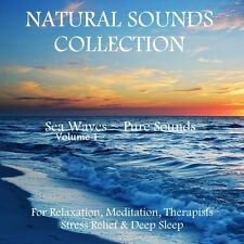 NATURAL SOUNDS CD -SEA WAVES FOR RELAXATION, MEDITATION,STRESS, SPA & DEEP SLEEP