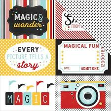 """Echo Park - Magic and Wonder - 4x6 JOURNALING CARDS - 12x12"""" d/sided paper"""