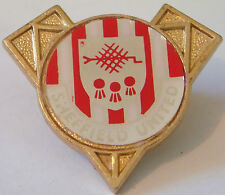 SHEFFIELD UNITED FC Vintage insert type Badge Brooch pin In gilt 37mm x 33mm