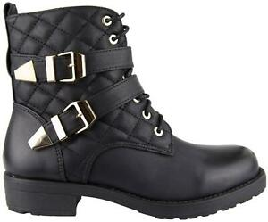 Damen Schnürer Boots Stiefel mit Reißverschluss