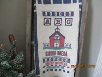 Feed Sack Fabric, flour sack fabric, Fabric, Craft supplies, school house design