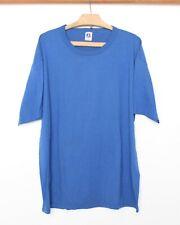 Vintage RUSSELL ATHLETIC Blank Blue Single Stitch 100% Cotton T-Shirt Sz. XXL