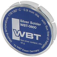 WBT 0800 Silver Solder 4% Silver Content 1/8 lb.