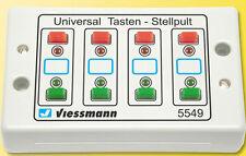 Viessmann 5549 Universal-Tasten-Stellpult, rückmeldefähig, 2-begriffig #NEU OVP#