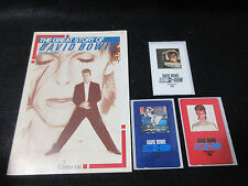 David Bowie Japan Triple Phone Card with Promo Book by Toshiba EMI Japan Glam