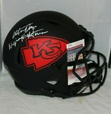Christian Okoye KANSAS CITY CHIEFS SIGNED ECLIPSE FULL SIZE HELMET JSA COA 4