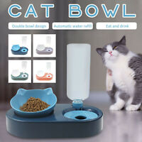 Automatic Drinking Pet Cat Dog Bowls Food And Water Bowl Set Cat Dog Bowls