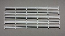 .5 barrières clôture blanche 1/87 HO décor train diorama compatible Jouef Faller
