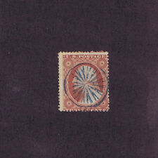 SC# 26 USED 3c 1857, GREAT BLUE GEOMETRIC IN CIRCLE FANCY CCL, PF CERT