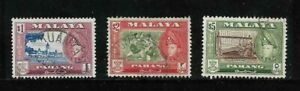Pahang 1957-62 $1.00, $2.00, $5.00 SG 84, 85, 86a  Used 3Stamps