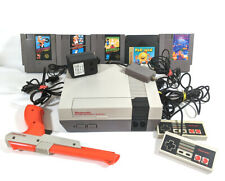 VINTAGE ORIGINAL 1985 NES-001 NINTENDO ENTERTAINMENT SYSTEM PLUS 5 GAMES WORKS