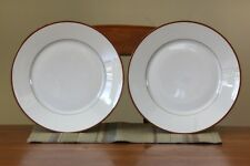 """2 BRAND NEW PORCELAINE LAFARGE LIMOGES FRANCE 10 5/8"""" Plates Gold and Red"""