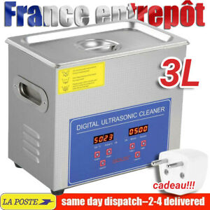 3L Nettoyeur A Ultrasons Numerique Professionnel Bac Inox Nettoyage Chauffant FR