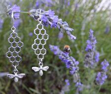 Boucles d'oreilles abeilles geometriques bijoux rayon du miel boho nature jardin