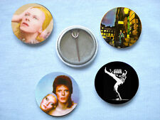 David Bowie-Set 2 Of Four  Badges Mott The Hoople T.Rex Mick Ronson Roxy Music
