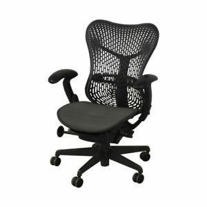 Loaded Herman Miller Mirra® 1 Task Chair Grey mesh desk chair office Mirra