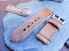 Hand made 24mm Swiss Army leather Ammo watch strap.