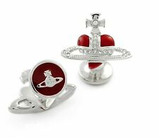 Red Enamel Cufflinks for Men